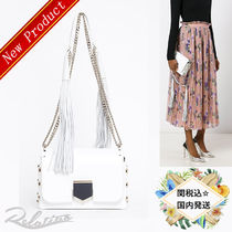 17AW★国内発送【Jimmy Choo】LOKETT PETITE Shoulder Bag/White