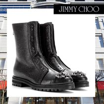 Jimmy Choo(ジミーチュウ) ショートブーツ・ブーティ 早期完売Jimmy Choo Hatcher embellished leather ankle boots