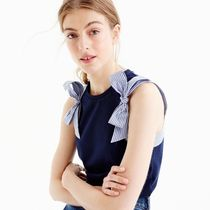 J Crew   BOW-SHOULDER トップ