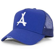 DOPE couture(ドープクチュール) 帽子その他 Alumni☆DISTRESSED MESH TRUCKER (ROYAL)