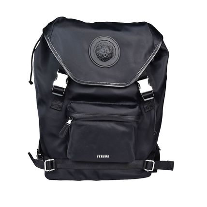 And VERSUS VERSACE Rubber Logo backpack