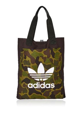 TOPSHOP トートバッグ 完売必至☆Black Canvas Shopper Bag by Adidas