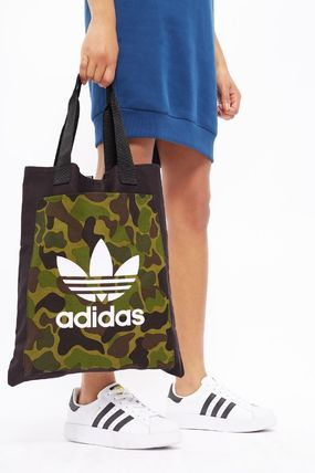 TOPSHOP トートバッグ 完売必至☆Black Canvas Shopper Bag by Adidas(2)