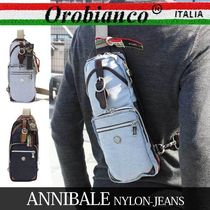 OROBIANCO ボディバッグ アニバーレ ANNIBALE-F NYLON-JEANS