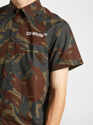few in stock Off-White short-sleeved camouflage shirt