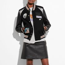 〔コーチ正規品〕space varsity jacket 87565 BLK