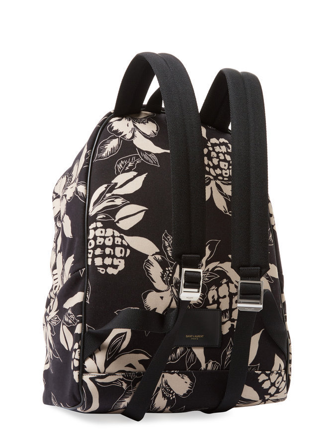 Saint Laurent Paris Printed Leather Backpack  サンローラン