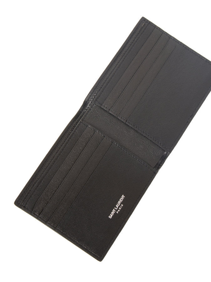 Saint Laurent ParisStar Patch Leather Wallet サンローラン