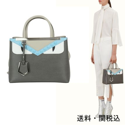 FENDI mini 2 JOURS grey tote bag shipping /