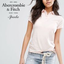 Abercrombie & Fitch(アバクロ) ポロシャツ SALE【A&F】半袖 ロゴ ポロシャツ ピンク / 送料無料