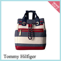 【Tommy Hilfiger】マリントート ボーダー バックパック 2WAY