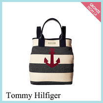 【Tommy Hilfiger】マリントート 碇 ボーダー バックパック 2WAY