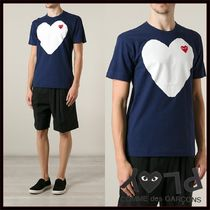 PLAY COMME des GARCONS(プレイコムデギャルソン) Tシャツ・カットソー 国内2~3日COMME des GARCONS*PLAYネイビーハートロゴTシャツ