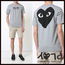 PLAY COMME des GARCONS(プレイコムデギャルソン) トップスその他 国内2~3日COMME des GARCONS*PLAYグレー表裏ロゴTシャツ