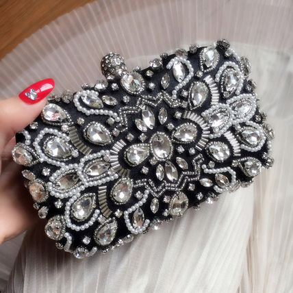 Bijou clutch bag chain with wedding party