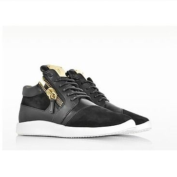 【GIUSEPPE ZANOTTI】Black Suede and Leather【関税込み★】