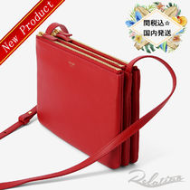 17AW★関税込【Celine】Smooth Trio Bag ショルダーバッグ/Red