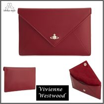 Vivienne Westwood★レザーエンベロープクラッチバッグ*レッド