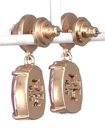 Pink Blossom☆Tory Burch☆Faux Pearl & Crystal Drop Earrings