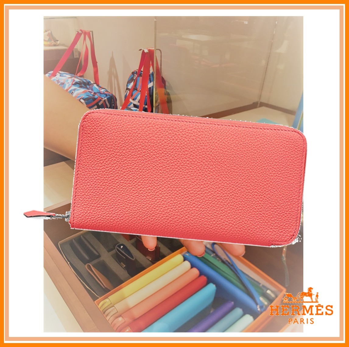 【HERMES】アザップ ロング *人気の財布 キャンディピンク
