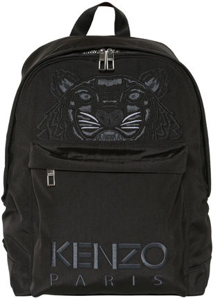 Kenzo◇【先行】タイガー EMBROIDERED キャンバス バックパック