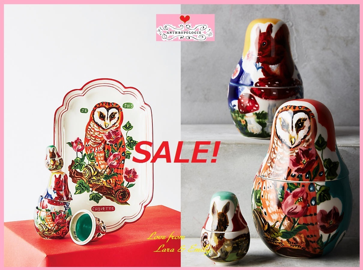 SALE☆店舗完売★在庫限り【Anthro】Matryoshka Measuring Cups