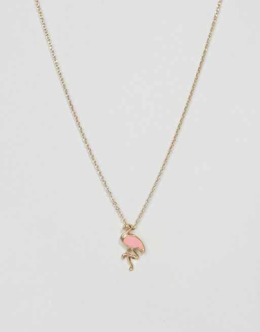 <送料関税込み>Pink Flamingo Necklace ASOS ネックレス