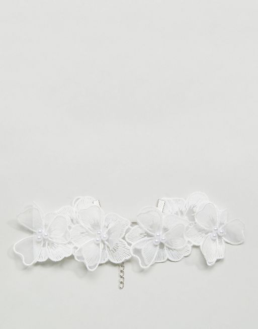 <送料関税込み>Statement Lace Flower Choker ASOS ネックレス