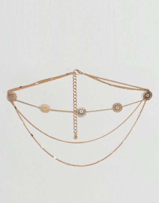<送料関税込み>Filigree Choker Multirow Nec ASOS ネックレス