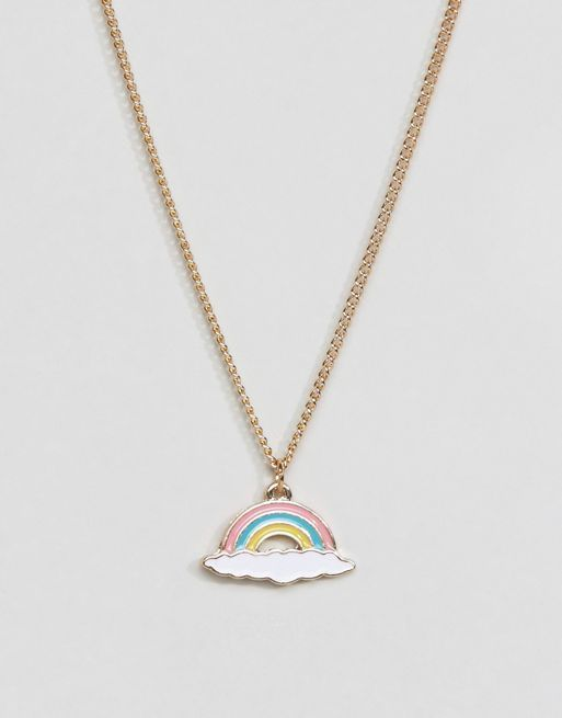 <送料関税込み>Rainbow Charm Necklace ASOS ネックレス