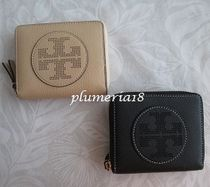 sale!Tory Burch-PERFORATED LOGO MEDIUM ZIP WALLET