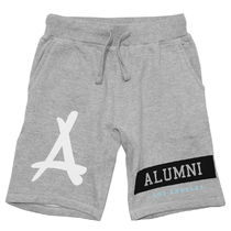ハーフ・ショートパンツ Tha Alumni Clothing☆ALUMNI ISLAND SWEAT SHORTS グレー