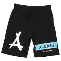 ハーフ・ショートパンツ Tha Alumni Clothing☆ALUMNI ISLAND SWEAT SHORTS ブラック
