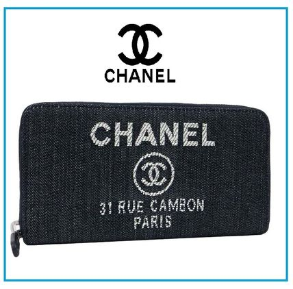 CHANEL 長財布 国内発 CHANEL Deauville Zip wallet ラウンドファスナー長財布