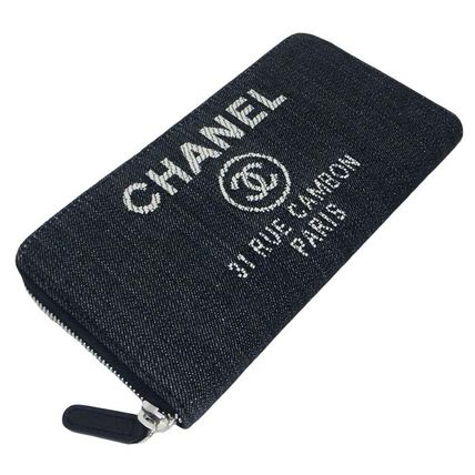 CHANEL 長財布 国内発 CHANEL Deauville Zip wallet ラウンドファスナー長財布(4)