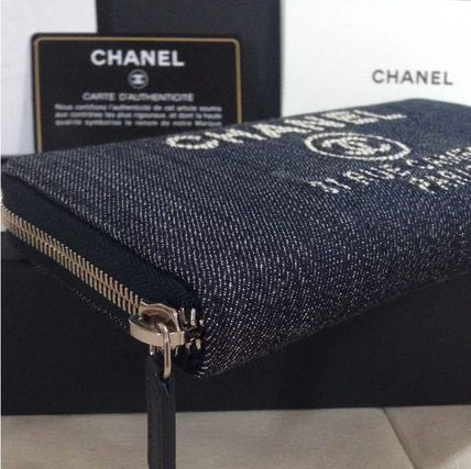 CHANEL 長財布 国内発 CHANEL Deauville Zip wallet ラウンドファスナー長財布(6)