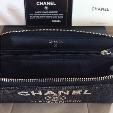 CHANEL 長財布 国内発 CHANEL Deauville Zip wallet ラウンドファスナー長財布(8)
