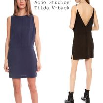 Acne Tilda Fluid V-back short dress Vカットシンプルドレス3色