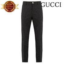 GUCCI(グッチ) スーツ GUCCI グッチ Polka-dot print wool-blend trousers