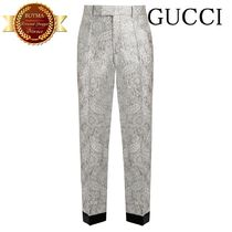 GUCCI(グッチ) スーツ GUCCI グッチ Floral-brocade straight-leg trousers