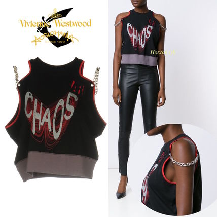 SALE★Vivienne Westwood★チェーンがクール!ChaosロゴTシャツ