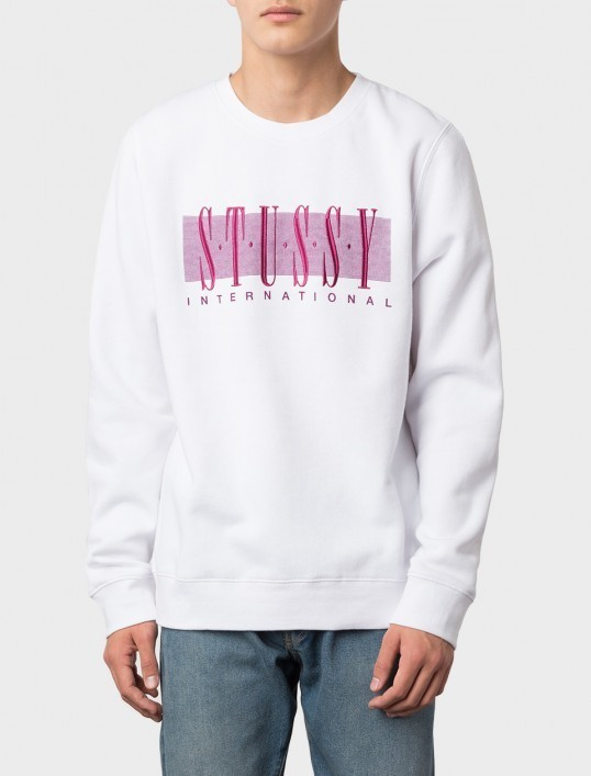 【STUSSY】☆17SS新作☆大人気☆STUSSY INT'L APPLIQUE CREW