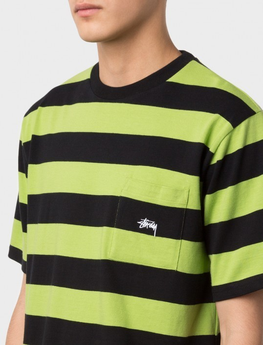 【STUSSY】☆17SS新作☆大人気☆RANGE STRIPE POCKET CREW