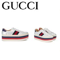GUCCI (グッチ) sneakers leather プラットフォームスニーカー