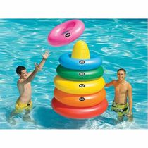バストイ・水遊びグッズ Giant Ring Toss Inflatable Game - Pool Float - Multi