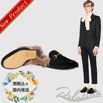 17SS★国内発送【GUCCI】プリンセスベルベットスリッパ