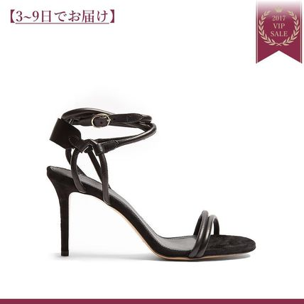 AODA leather & suede sandals