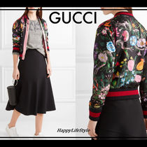 GUCCI(グッチ) ブルゾン Blooming*フローラルプリント シルク bomber jacket*GUCCI