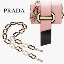 PRADA plexiglass and crystal ショルダーストラップ 1TY015 2RJ