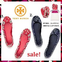 最終セール Tory Burch MINNIE TRAVEL BALLET WITH LOGO